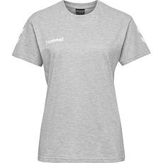 hummel T-Shirt Cotton Damen hellgrau