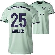 Adidas FC Bayern München Auswärts Trikot 2018/2019 MÜLLER