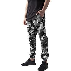 URBAN CLASSICS Jogginghose Camo Ripstop camouflage/weiß