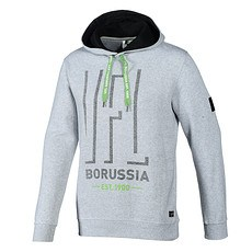 Borussia Mönchengladbach Hoodie VFL BORUSSIA Grau