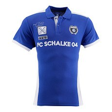 FC Schalke 04 Polo Shirt Wappen Königsblau