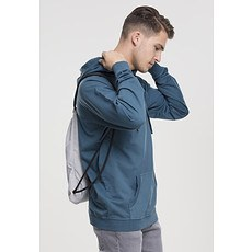 URBAN CLASSICS Hoodie Garment Washed Terry petrol