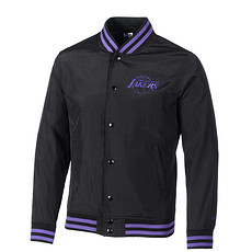 New Era Los Angeles Lakers Jacke Pop Logo Varsity schwarz