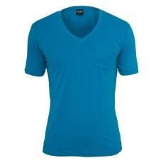 URBAN CLASSICS T-Shirt V-Neck Pocket Türkis