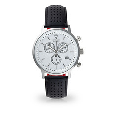 DETOMASO Herren Quarzuhr MILANO Chronograph Silber/Schwarz