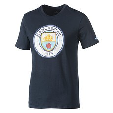 Nike Manchester City T-Shirt Basic Blau