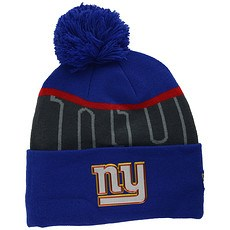 New Era New York Giants Bommelmütze Gold Knit blau