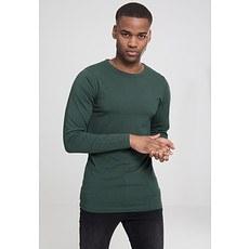 URBAN CLASSICS Sweatshirt Fitted Stretch L/S Tannengrün