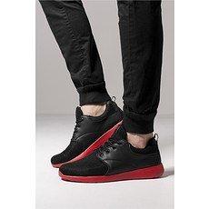 URBAN CLASSICS Sneaker Light Runner schwarz/feuerrot
