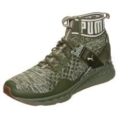 Puma Sneaker Ignite evoKNIT Hypernature oliv / weiß