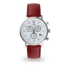 DETOMASO Herren Quarzuhr MILANO Chronograph Silber/Rot