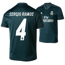 Adidas Real Madrid Away Trikot SERGIO RAMOS 18/19 Kinder