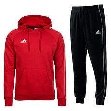 Adidas Freizeitanzug Core 18 Rot/Schwarz