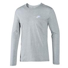 Nike Longsleeve Sportswear Top Dunkelgrau/Weiß