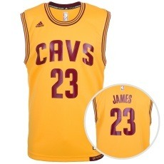 Adidas Cleveland Cavaliers Replica Trikot James gelb/rot