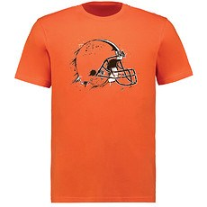 Majestic Athletic Cleveland Browns T-Shirt Splatter orange