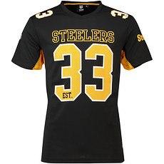 Majestic Athletic Pittsburgh Steelers T-Shirt Moro Poly Mesh blau