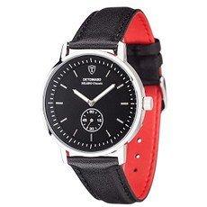 DETOMASO MILANO Classic Herren Armbanduhr Schwarz/Silber
