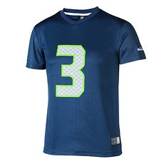 Majestic Athletic Seattle Seahawks PolyMesh T-Shirt Wilson Nr 3 blau