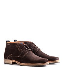 TRAVELIN OUTDOOR Boot London Suede dunkelbraun