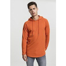 URBAN CLASSICS Hoodie Long Shaped Terry rost