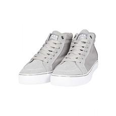 URBAN CLASSICS Sneaker High Canvas grau/weiß