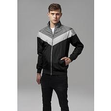 URBAN CLASSICS Jacke Arrow Zip schwarz/dunkelgrau/grau