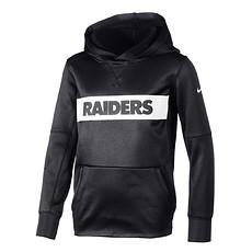 Nike Las Vegas Raiders Hoodie Therma Kinder schwarz