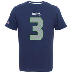 Majestic Athletic Seattle Seahawks T-Shirt Wilson Nr 3 blau