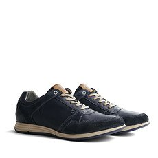 TRAVELIN OUTDOOR Sneaker Corton Leather blau