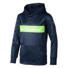 Nike Seattle Seahawks Hoodie Therma Kinder blau