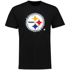 Majestic Athletic Pittsburgh Steelers T-Shirt Splatter schwarz
