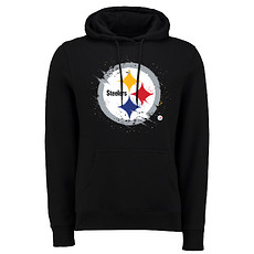 Majestic Athletic Pittsburgh Steelers Hoodie Splatter schwarz