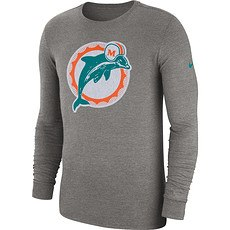 Nike Miami Dolphins Langarm Shirt HISTORIC Dunkelgrau