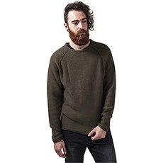 URBAN CLASSICS Sweatshirt Raglan Wideneck Olive