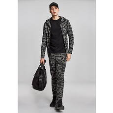 URBAN CLASSICS Jacke Interlock Camo Zip dark camo