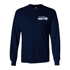 Majestic Athletic Seattle Seahawks Longsleeve Realm of Champions navy