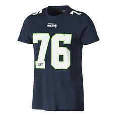New Era Seattle Seahawks T-Shirt Classic Number blau