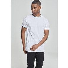 URBAN CLASSICS T-Shirt College weiß/schwarz