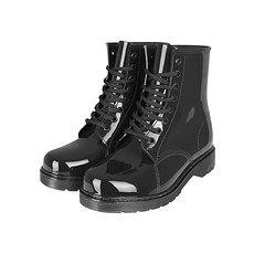 URBAN CLASSICS Boots Laced Rain schwarz
