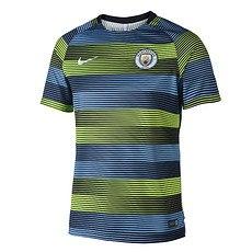 Nike Manchester City Aufwärmshirt Team Blau/Grün
