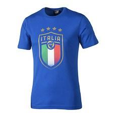 Puma T-Shirt Emblen Italien Blau