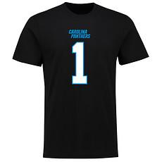 Majestic Athletic Carolina Panthers T-Shirt N&N Newton No 1 schwarz
