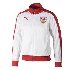 Puma VfB Stuttgart Stadionjacke weiß/rot