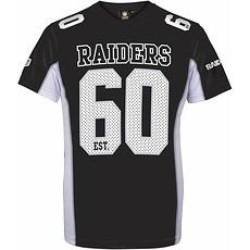 Majestic Athletic Oakland Raiders T-Shirt Moro Poly Mesh schwarz