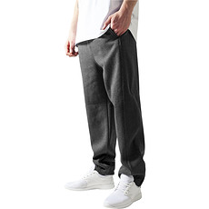 URBAN CLASSICS Jogginghose Sweat dunkelgrau