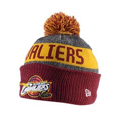 New Era Cleveland Cavaliers Strickmütze Cuff Bobble Knit blau/gold