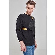 URBAN CLASSICS Hip Bag Striped Belt schwarz/gelb/schwarz