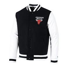 New Era Chicago Bulls Collegejacke Varsity schwarz/weiß
