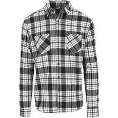 URBAN CLASSICS Hemd Checked Flanell 2 Weiß/Schwarz